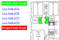 Studyroom availability map