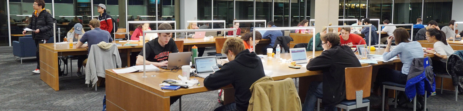Photo of Students in Adele Hall Learning Commons