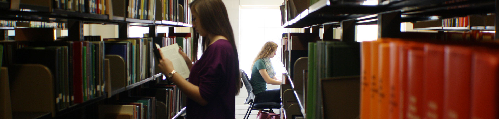 Students spend time in Libraries stacks