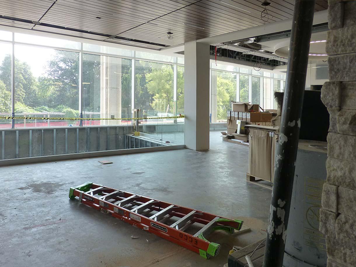 photo of main floor looking east