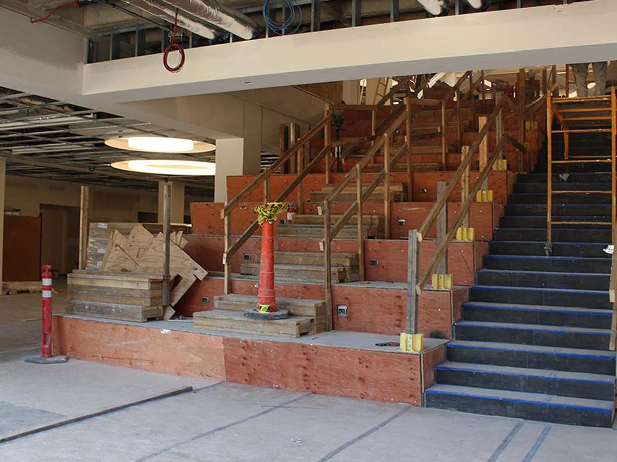 photo of the Learning Stairs on the main floor