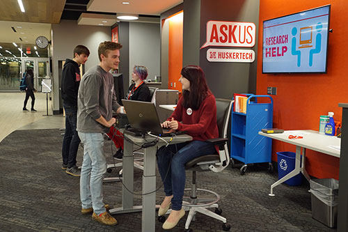 Photo of ASKus location in Adele Hall Learning Commons
