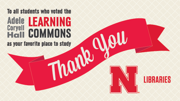 Thank you for voting the Adele Hall Learning Commons a favorite place to study