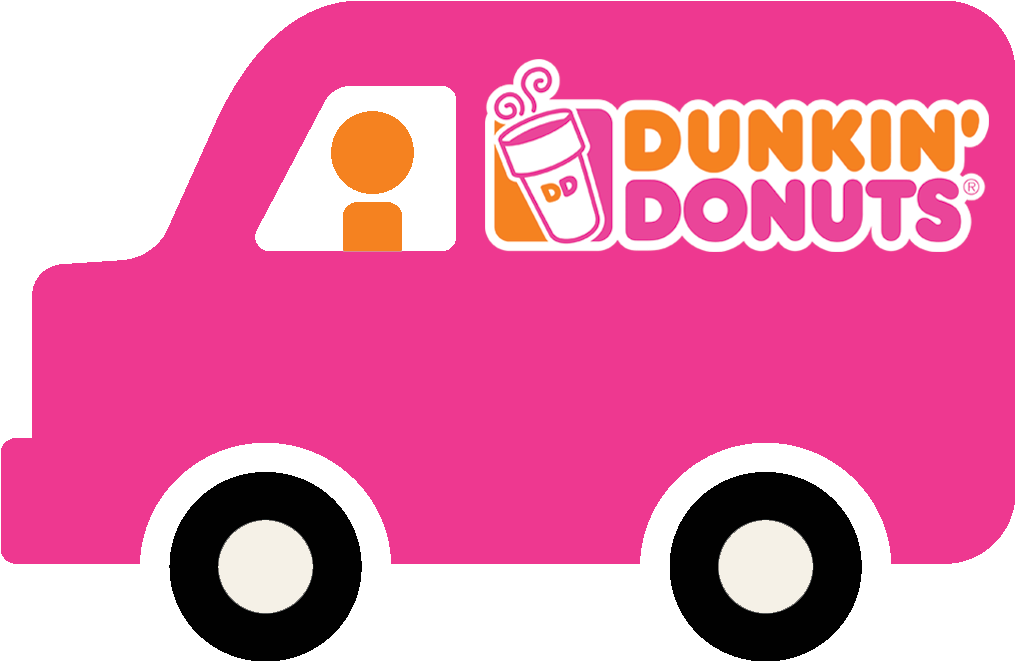 van with Dunkin' Donuts